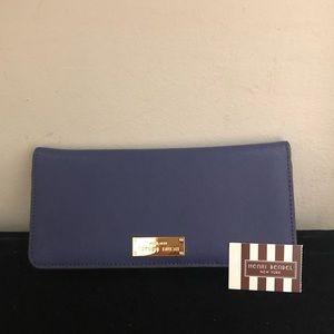 Henry Bendel Jetsetter Wallet Dark Blue NWT